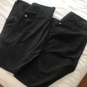 Fabletics black leggings x2. Long length